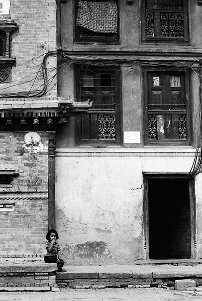 Gloomy Girl Sat Alone (Nepal)
