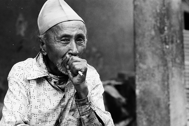 Man Smokes A Cigarette (Nepal)
