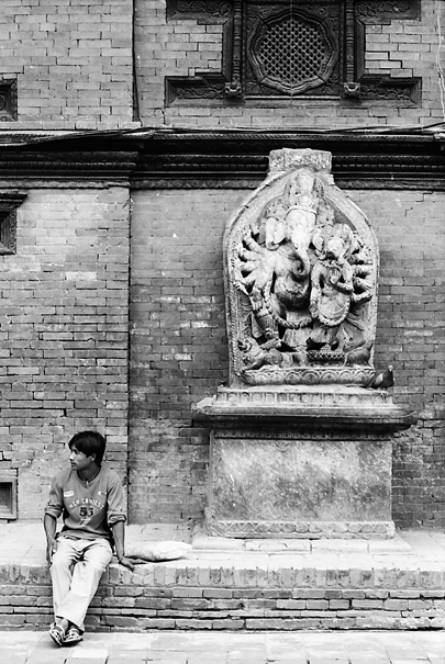 Man And Ganesha @ Nepal