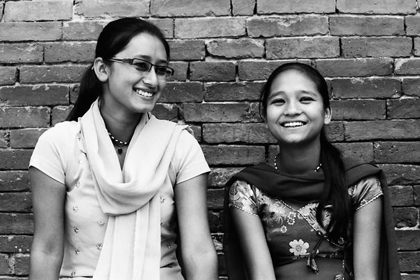 Girl wearing saree
