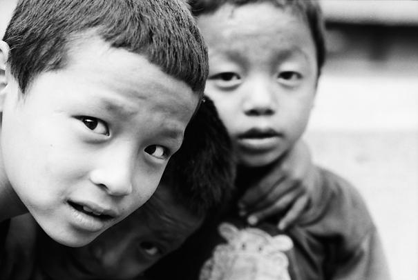 Faces Of Curious Boys (Nepal)