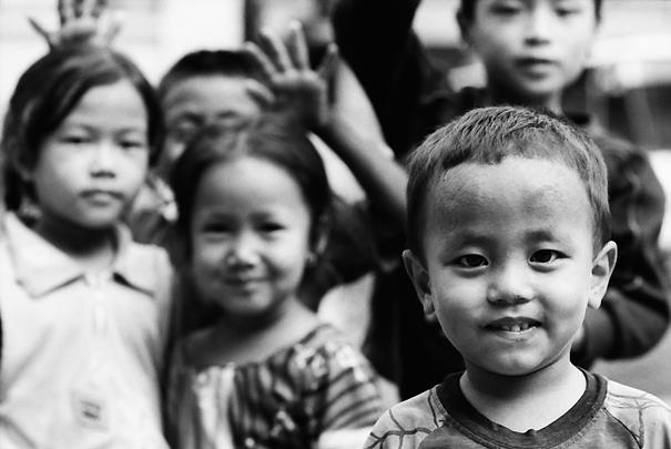 Curious kids in Patan