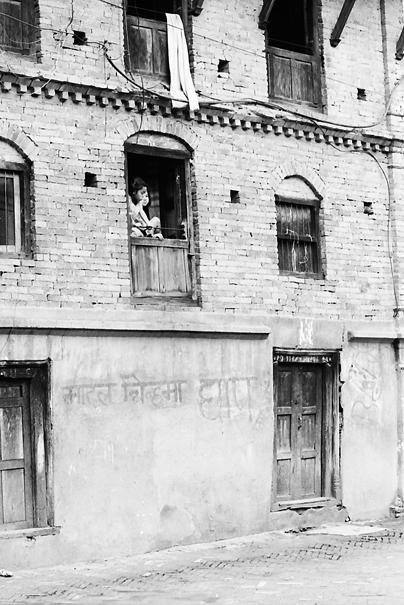 Girls By The Upstairs Window (Nepal)