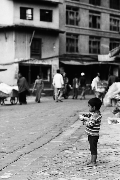 Shoeless Boy By The Wayside (Nepal)