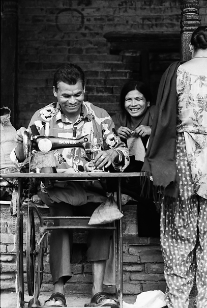 Sewing Machine And Man @ Nepal