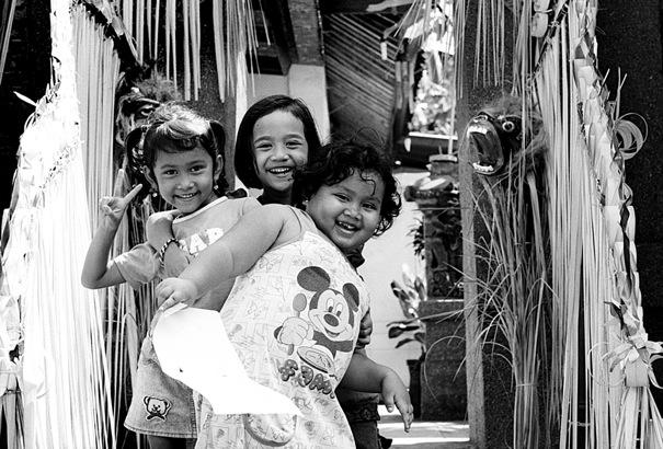Three cheerful girls
