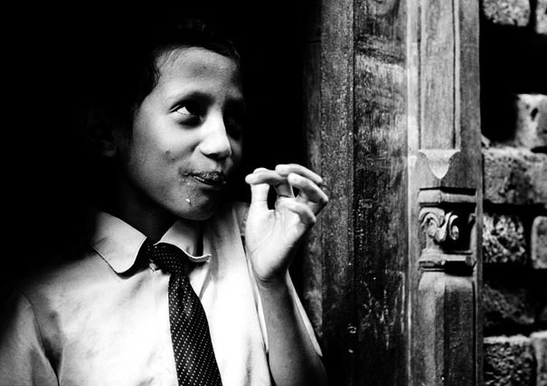 Girl With A Tie Was Eating (Nepal)