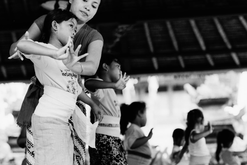 Lesson of Balinese dance