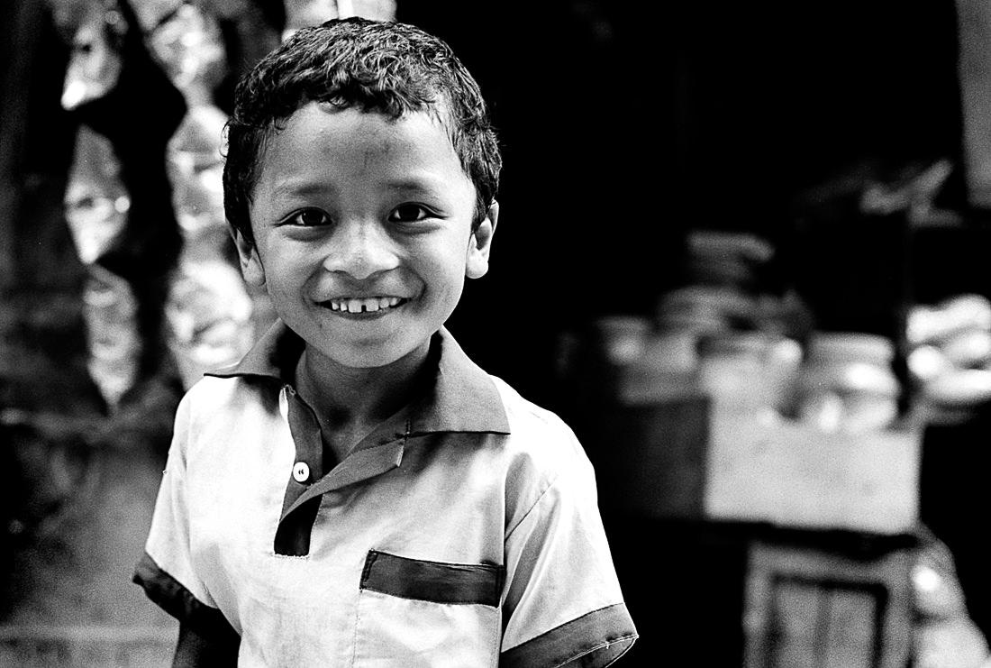 Boy with shining eyes