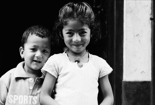 Joyous girl and boy