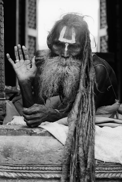 Long-haired sadhu