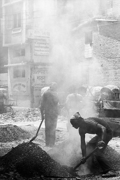 Asphalt In A Constrcution Site @ Nepal