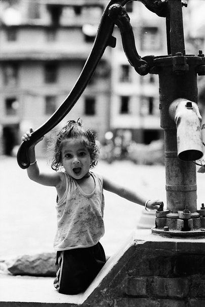 Little Girl By A Well @ Nepal