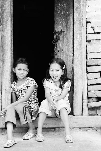 Two Expressions At The Door (Nepal)