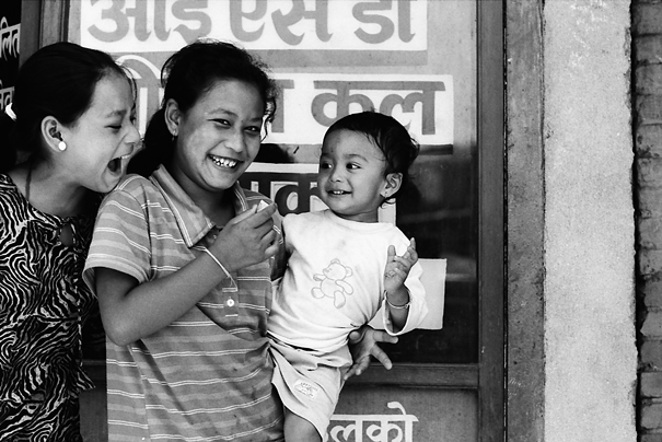 Two Women With A Baby (Nepal)