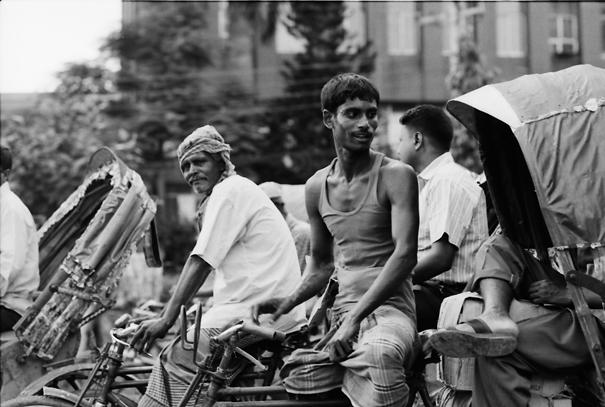 Traffic Jam With Cycle Rickshaws (Bangladesh)