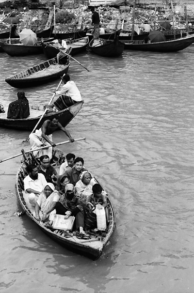 Ferryboat filled with passengers