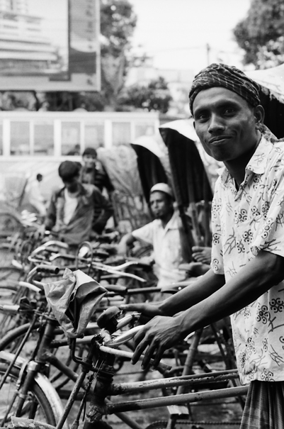 Troop Of Cycle Rickshaws (Bangladesh)