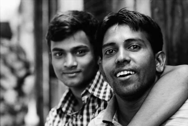 Man With The Mouth Open And Man With The Mouth Closed (Bangladesh)