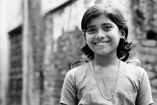 Smile Of A Girl Wearing A Necklace (Bangladesh)