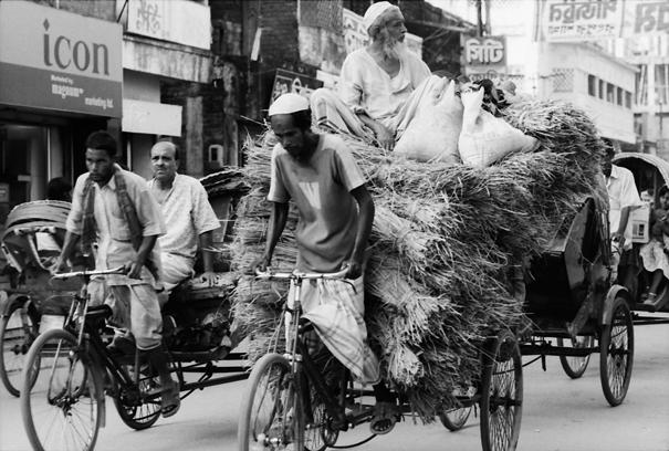 リキシャに乗り込むのは人間だけじゃない @ バングラデシュ