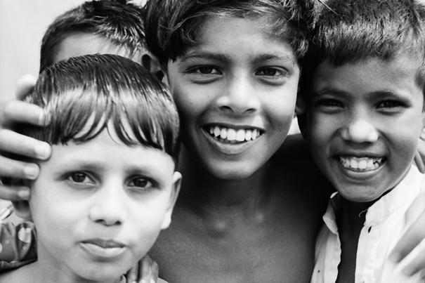 Three faces of boys