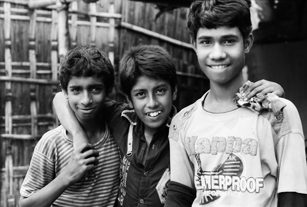 Trio With Their Arms Around Each Other (Bangladesh)