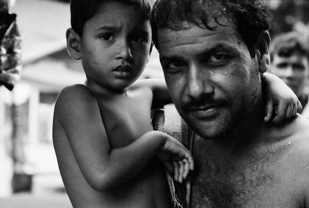 Terrified Son And Protecting Father (Bangladesh)