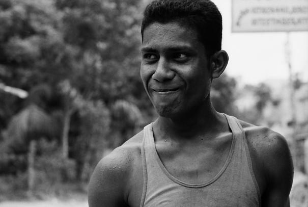 Shy Man Wearing A Tank Top (Bangladesh)