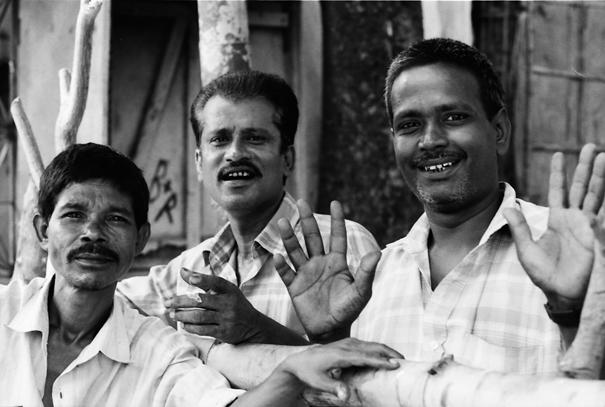 Three comical men