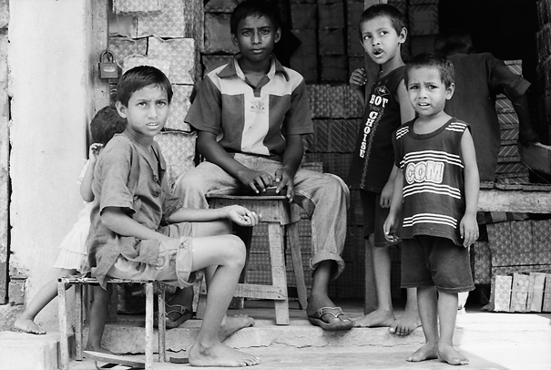 Children At A Storefornt (Bangladesh)
