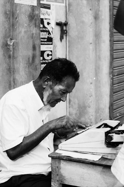 Typewriter By The Wayside (Bangladesh)
