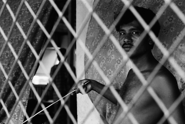 Man Inside The Wire Netting (Bangladesh)