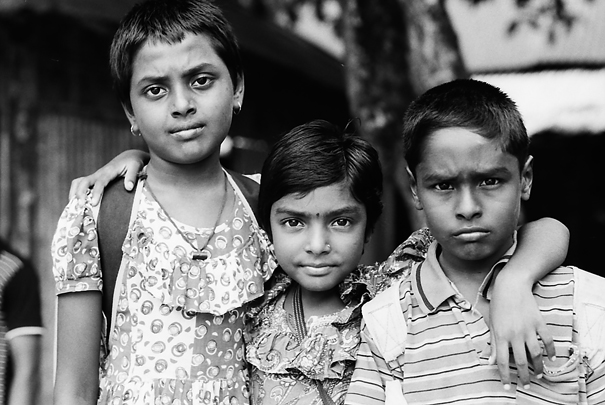Three Kids With Gimlet Eyes (Bangladesh)