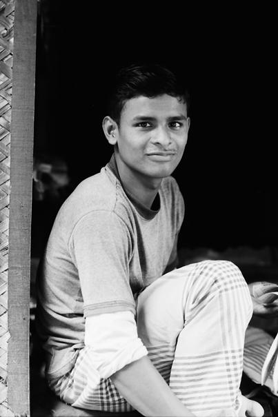 Relaxing Man At The Entrance @ Bangladesh