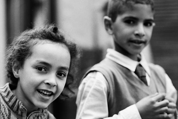 Girl And Boy In Casablanca (Morocco)