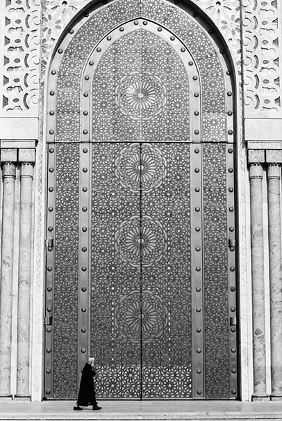 ハッサン2世モスクの巨大な扉
