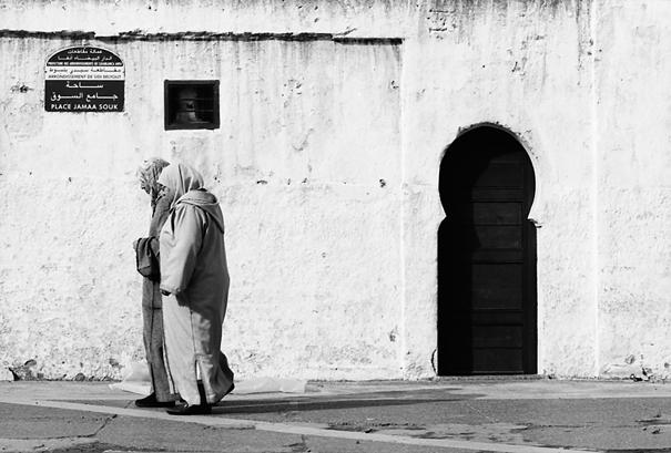 Walking Women And Keyhole-like Entrance @ Morocco