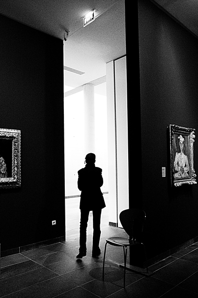Silhouette In The Gallery (France)