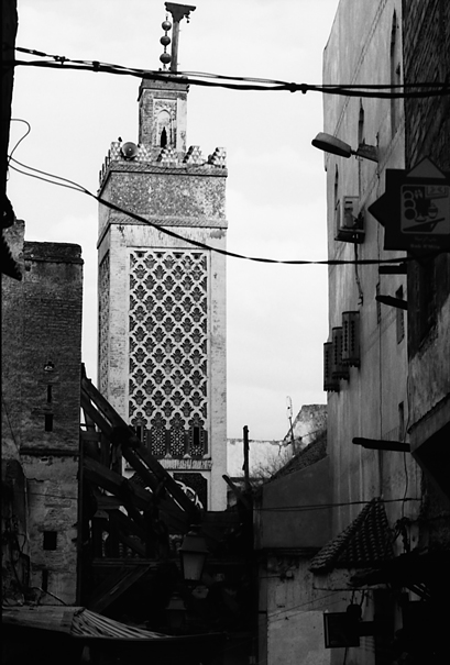 Chrabliyine Mosque Towered In The Old City (Morocco)