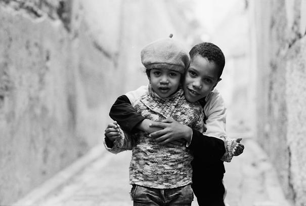 Siblings In The Lane (Morocco)