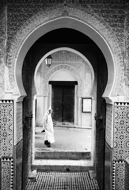 Arch Of The Chrabliyine Mosque In Fez El-Bali (Morocco)