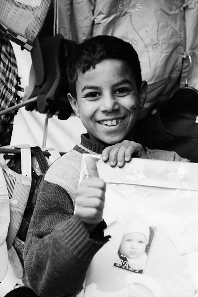 Boy Smiled And Thumbed Up (Morocco)