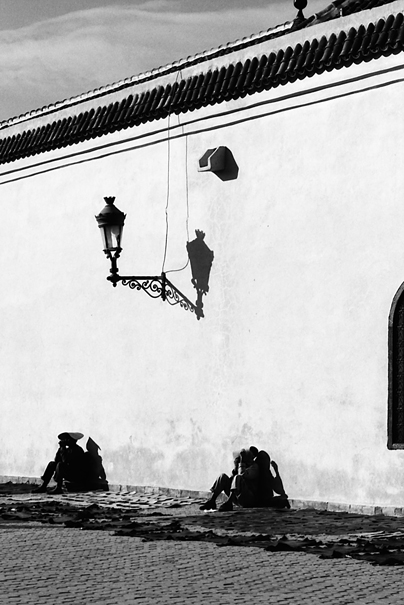 Figures Around A Street Lamp (Morocco)