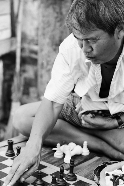 Man Playing Chess (Myanmar)