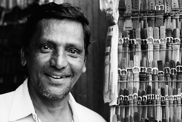 Man Smiled Beside Watch Bands (Myanmar)