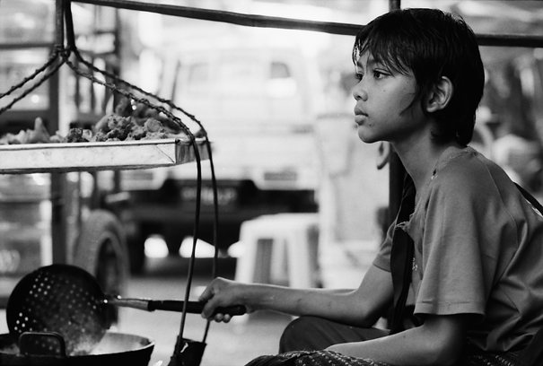 Boy Frying By The Wayside (Myanmar)