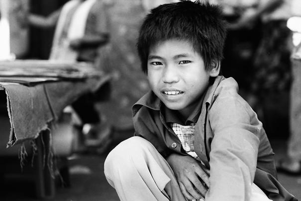 Squatting Boy @ Myanmar