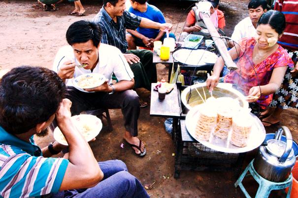 Meal In The Bus Terminal (Myanmar)