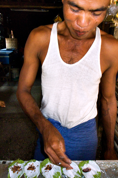 Man Making Paan (Myanmar)